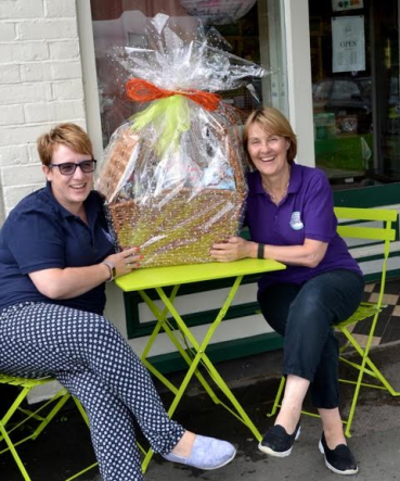 Auctioning the Hamper to raise money for Surrey & Sussex Air Ambulance