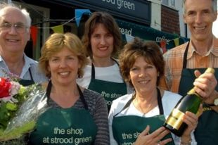 Jane Holmes, Jo Songhurst and Helen Melia celebrate the opening of the shop